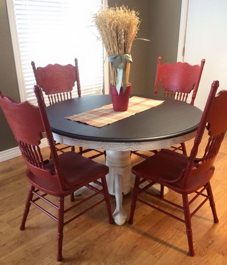 Most Current Best + Red Kitchen Tables Ideas On Antique Kitchen Kitchen Tables For Red Dining Table Sets (View 5 of 20)