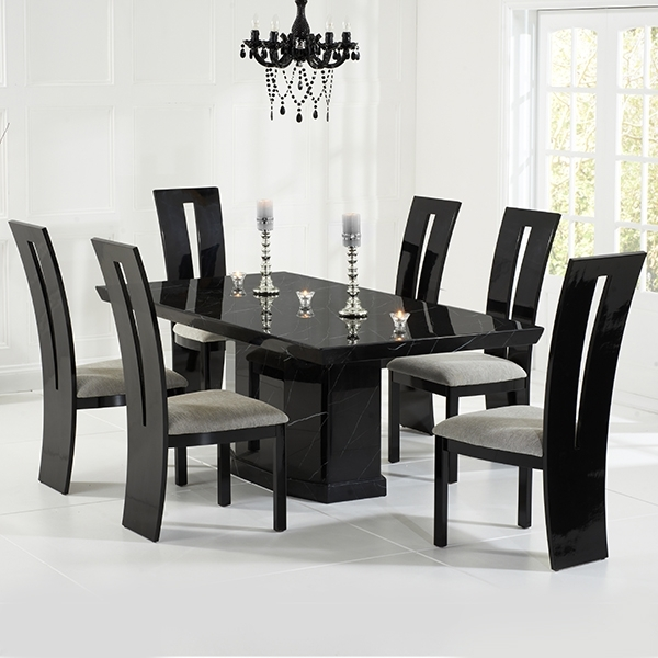 Most Current Black Gloss Dining Sets Throughout Vienna Black Gloss Dining Chairs Pair – Robson Furniture (View 13 of 20)