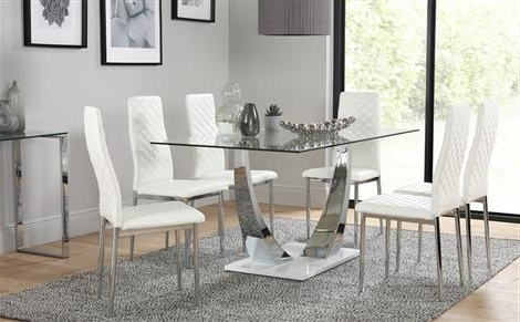 Most Current Bozck Glass Dining Table White Chairs 2018 Small Dining Table Throughout Glass Dining Tables White Chairs (View 12 of 20)