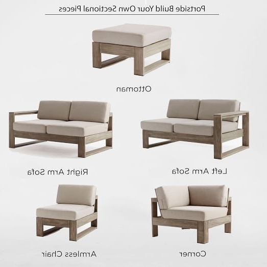 Most Current Build Your Own Portside Outdoor Sectional – Weathered Gray (View 9 of 15)