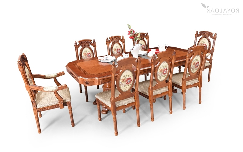 Most Current Buy Royaloak Empire 8 Seater Dining Set With Cushioned Chairs Within Eight Seater Dining Tables And Chairs (View 15 of 20)