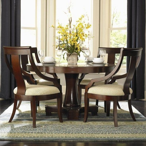Most Current Candice Ii 5 Piece Round Dining Sets With Slat Back Side Chairs Throughout 3F7101181Pg – Violante Round Pedestal Dining Table + 4 Chairs (View 16 of 20)
