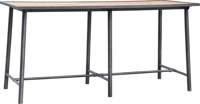 Most Current Duke Bar Table – Industrial – Indoor Pub And Bistro Tables – In Washed Old Oak & Waxed Black Legs Bar Tables (View 3 of 20)