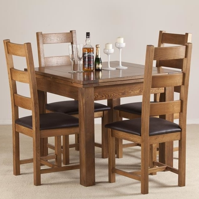 Most Current Extendable Dining Table And 4 Chairs Intended For Homestead Living Rayleigh Extendable Dining Table And 4 Chairs (View 9 of 20)