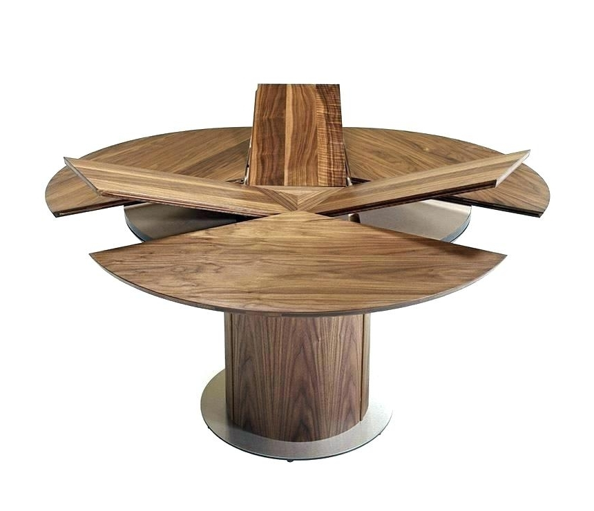 Most Current Extended Round Dining Tables Within Round Extended Dining Table Circa Ii Oval Extending Table Extendable (View 15 of 20)