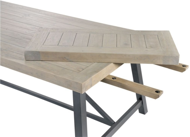 Most Current Extending Dining Tables Pertaining To Buy Liddle Industrial Reclaimed Wood Extending Dining Table Online (View 14 of 20)
