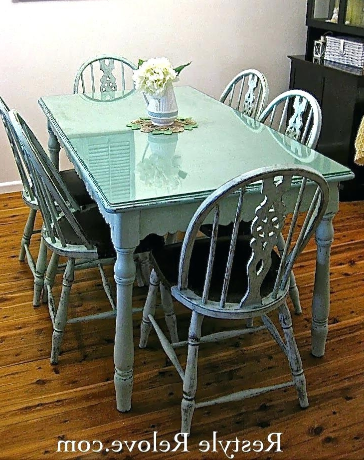 Most Current Farmhouse Style Dining Table And Chairs – Buxenz Regarding Green Dining Tables (View 3 of 20)
