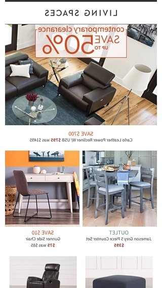 Most Current Jameson Grey 5 Piece Counter Sets Within Your Modern Style: On Clearance! – Living Spaces Email Archive (View 13 of 20)