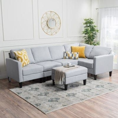 Most Current Light Gray Zena Sectional With Ottoman (View 9 of 15)