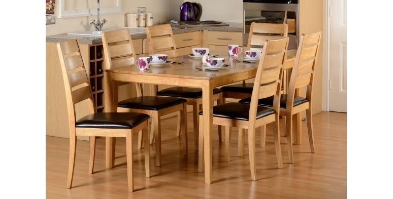 Most Current Logan 6 Piece Dining Sets Pertaining To Logan Dining Table & 6 Chairs (View 9 of 20)