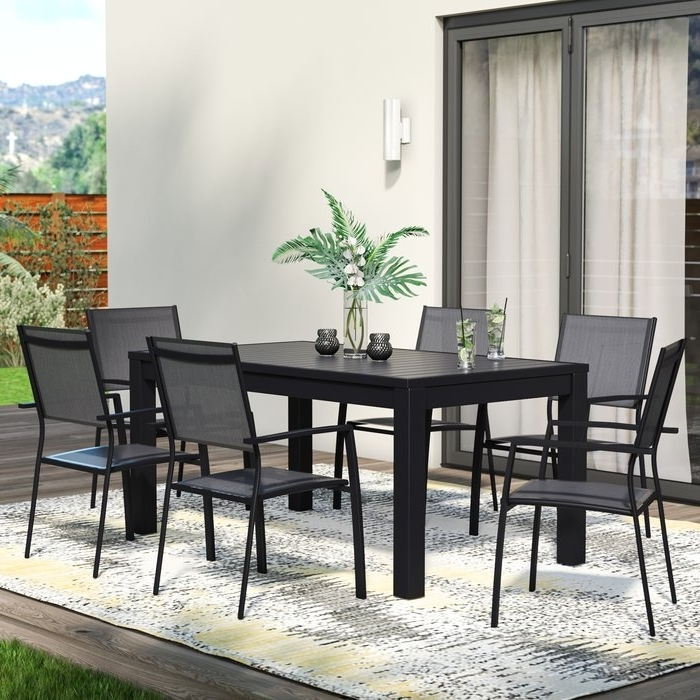 Most Current Logan 7 Piece Dining Sets Within Wade Logan Balducci 7 Piece Dining Set & Reviews (View 3 of 20)