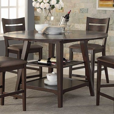 """Most Current Loon Peak Caden 60"""" Round Extendable Dining Table (View 6 of 20)"""