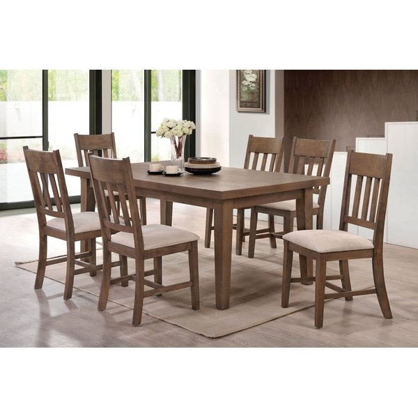 Most Current Loon Peak Seymour 7 Piece Dining Set (View 8 of 20)