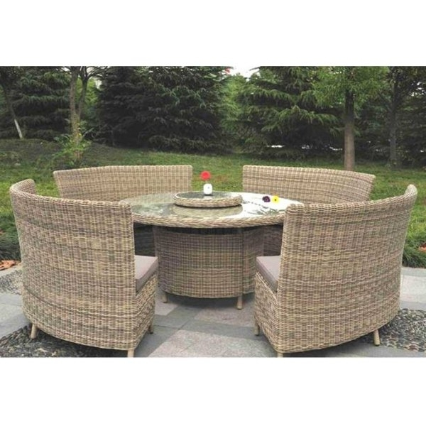 Most Current Modena 8 / 12 Person With Lazy Susan Rattan Garden Dining Set Regarding Garden Dining Tables (View 20 of 20)