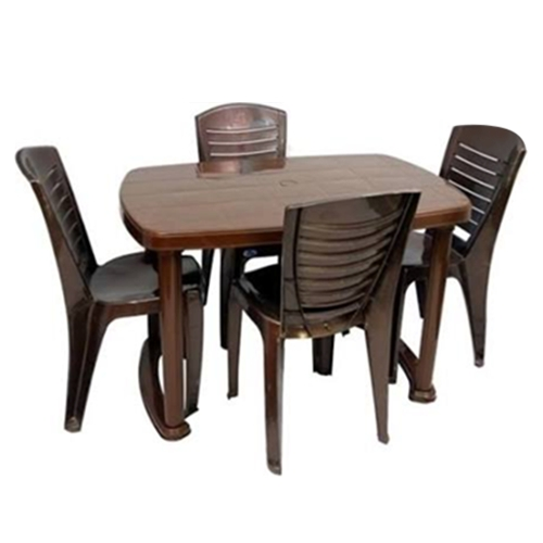 Most Current Plastic Dining Table Chair Set, Dining Table And Chairs, Khaana With Dining Table Chair Sets (View 2 of 20)