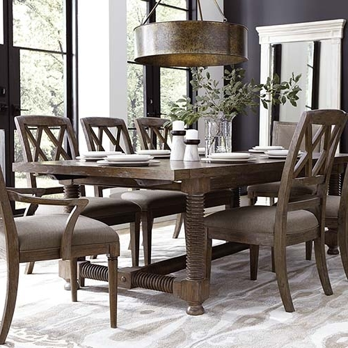 Most Current Rectangular Tables For Craftsman 7 Piece Rectangular Extension Dining Sets With Arm & Uph Side Chairs (View 12 of 20)