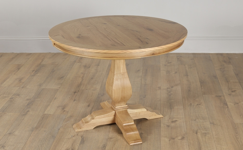 Most Current Round Oak Dining Tables And 4 Chairs In Cavendish Round Oak Dining Table – 100Cm (View 7 of 20)