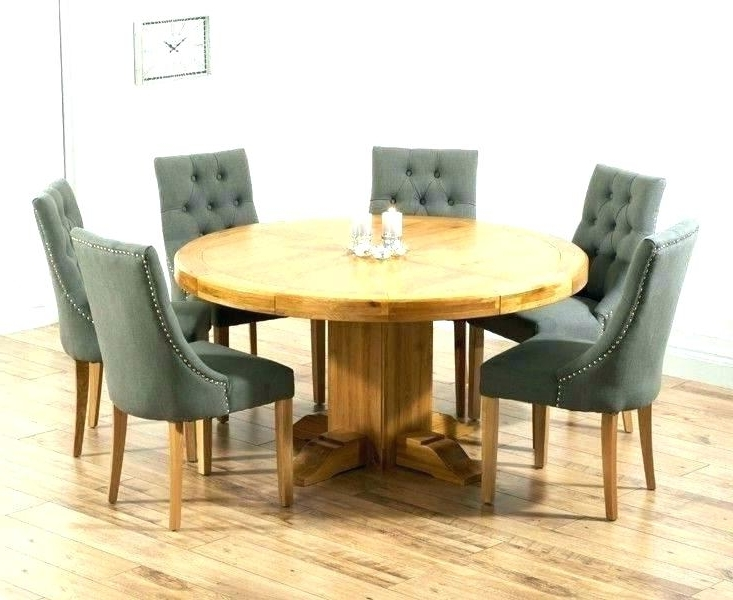 Most Current Round Oak Dining Tables And Chairs Throughout Dining Table With Leaf Oak Dining Room Furnitu  (View 5 of 20)