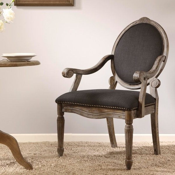 Most Current Shop Maison Rouge Brentwood Grey Dining Armchair – Free Shipping Intended For Caira Black 7 Piece Dining Sets With Arm Chairs & Diamond Back Chairs (View 14 of 20)