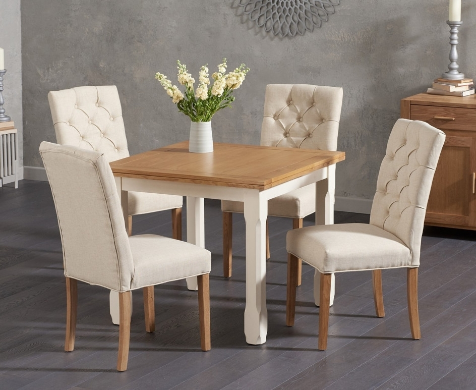 Most Current Somerset 90Cm Flip Top Oak And Cream Dining Table With Candice Cream Pertaining To Candice Ii 5 Piece Round Dining Sets (View 15 of 20)
