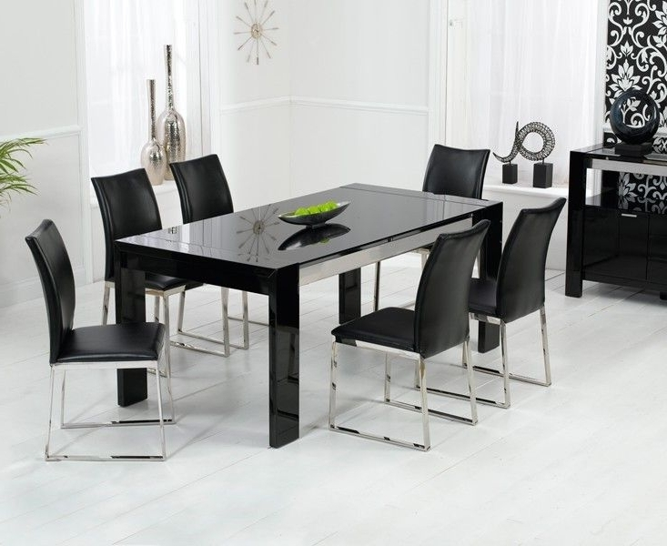 Most Current Sophia High Gloss Black Dining Table Regarding Black Dining Tables (View 13 of 20)