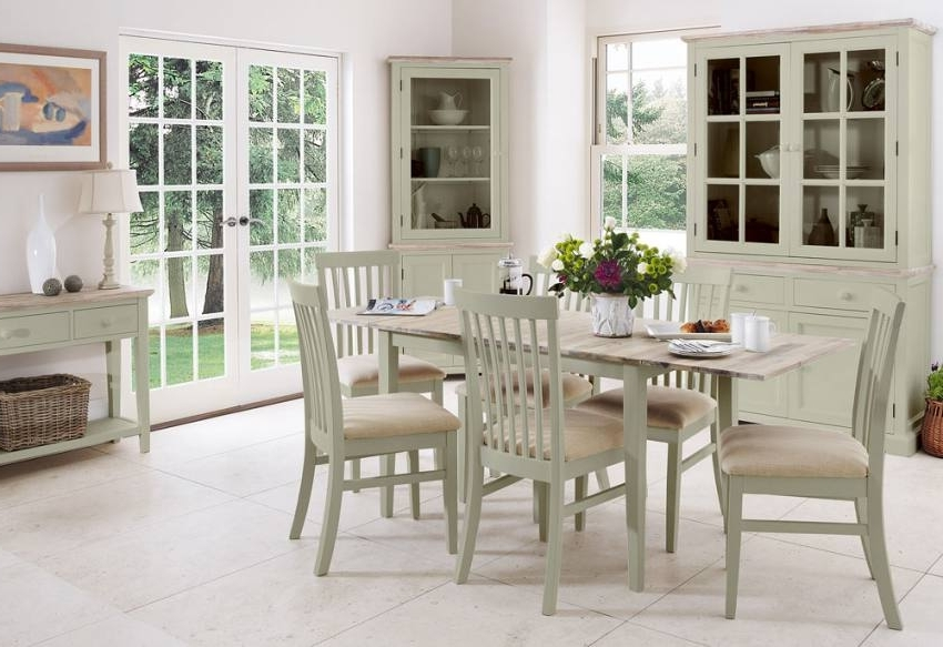 Most Current Statement Furniture – Florence Sage Green Matt Painted & Washed Intended For Green Dining Tables (View 9 of 20)