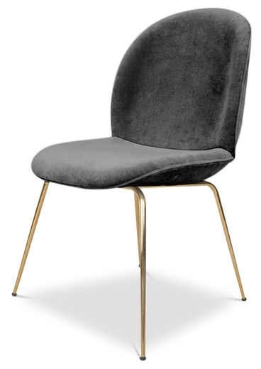 Most Current Velvet Dining Chairs With Regard To Pipa Velvet Dining Chair, Dark Gray (View 9 of 20)