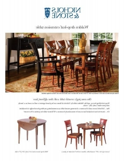 Most Current Walden Drop Leaf Extension Table – Stickley Within Walden Extension Dining Tables (View 8 of 20)