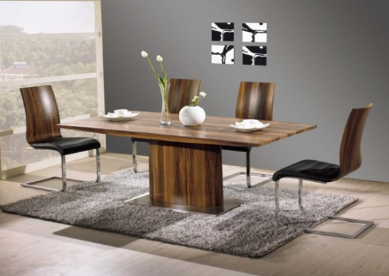 Most Current Walnut Dining Table Sets Pertaining To Vida Living Exclusive Messina Walnut Dining Table And 6 Messina (View 8 of 20)