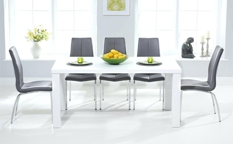 Most Current White Dining Table And Chairs Argos White Gloss Dining Table And Throughout Gloss Dining Tables And Chairs (View 10 of 20)