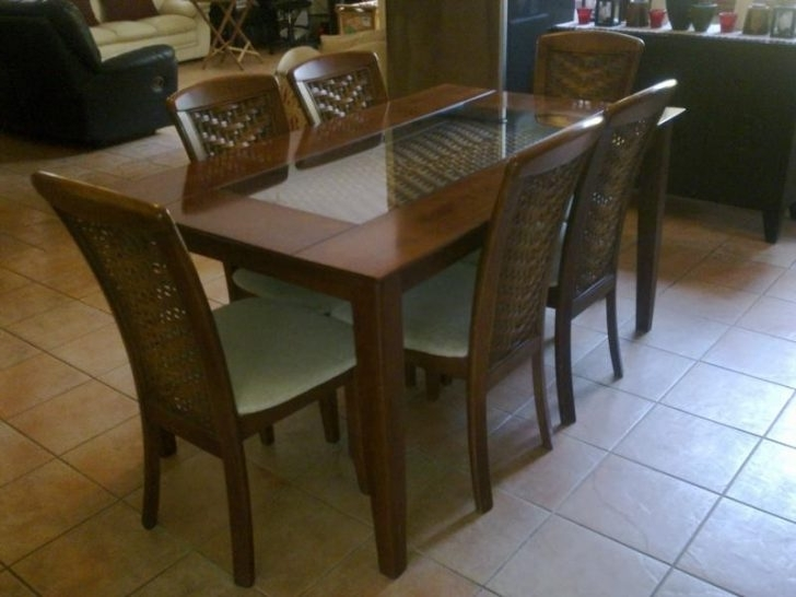 Most Current Wooden Glass Dining Tables Throughout Wood And Glass Dining Table – Pannachapman (View 11 of 20)