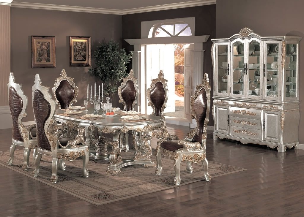 Most Popular 2017 Formal Dining Room Furniture For Elegant, Functional And Regarding Delfina 7 Piece Dining Sets (View 10 of 20)