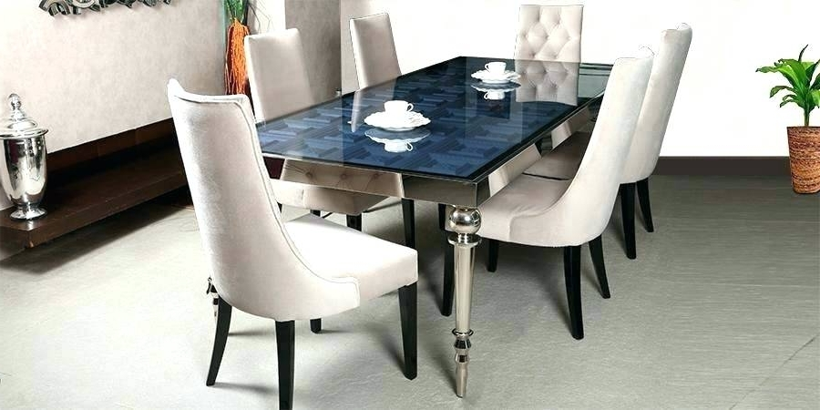 Most Popular 6 Seater Glass Dining Table Sets Within Dining Table Sets For 6 Full Size Of Dinner Chairs Kitchen Console (View 13 of 20)