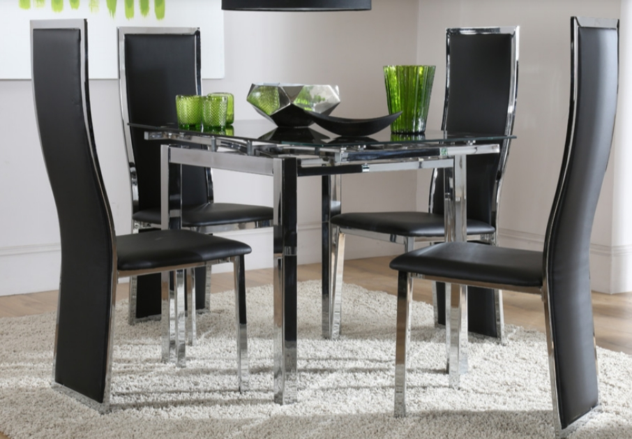 Most Popular 7 Contemporary Glass Square Dining Tables – Cute Furniture Uk Pertaining To Square Black Glass Dining Tables (View 12 of 20)