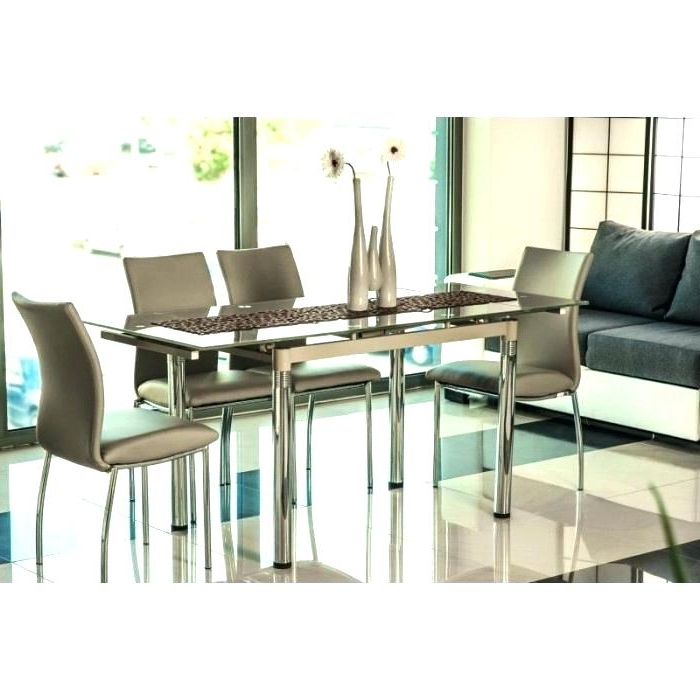 Most Popular Black Glass Dining Tables 6 Chairs With Extending Glass Dining Table And 6 Chairs Iii Beige Glass Extendable (View 9 of 20)