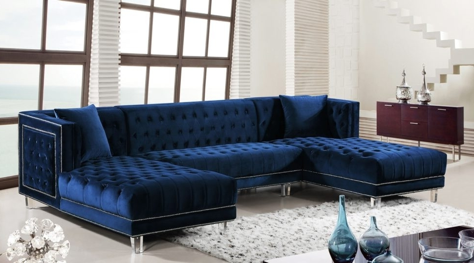 Most Popular Blue Sectional Sofa Coaster Keaton Transitional Five Piece With Pertaining To Benton 4 Piece Sectionals (View 9 of 15)