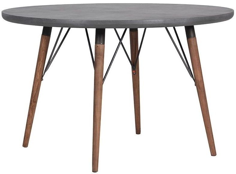 Most Popular Buy Loft Grey Round Dining Table – 120Cm Online – Cfs Uk Throughout Round Dining Tables (View 7 of 20)