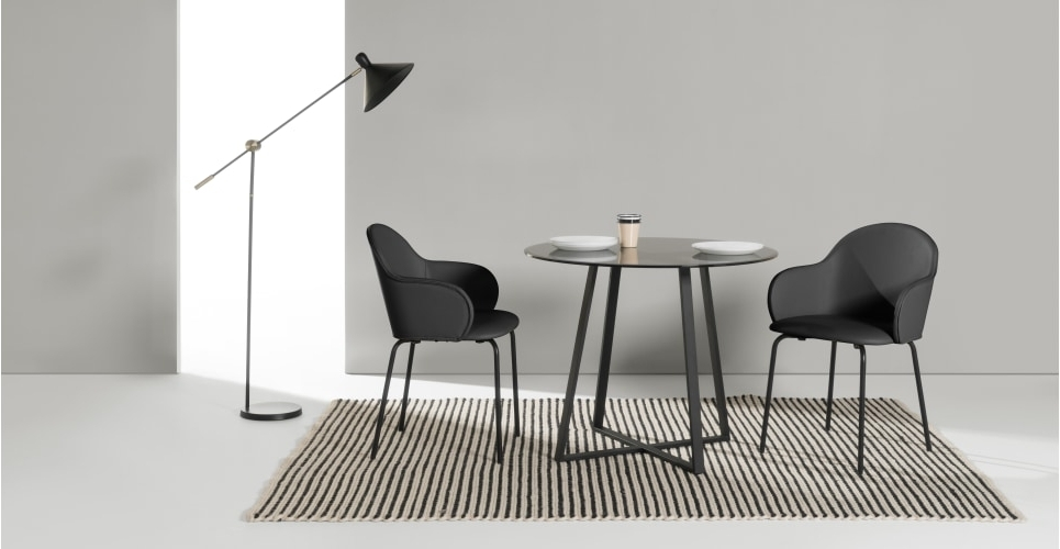 Most Popular Caira Black Round Dining Tables Regarding Choosing A Round Dining Table And Chairs Which Match – Home Decor Ideas (View 12 of 20)