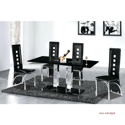 Most Popular Cheap Dining Table With 6 Chairs Dining Room Miraculous 6 Dining Regarding Black Glass Dining Tables 6 Chairs (View 10 of 20)