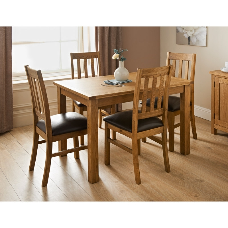 Most Popular Cheap Oak Dining Tables Throughout Hampshire Oak Dining Set 7Pc (View 2 of 20)