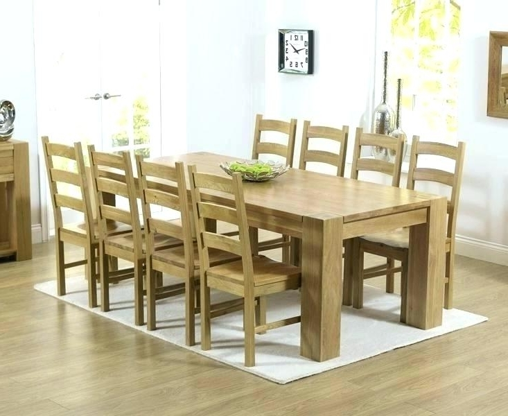 Most Popular Chunky Solid Oak Dining Tables And 6 Chairs Within Chunky Dining Table And Chairs Chair Round Dining Room Sets Alluring (View 11 of 20)