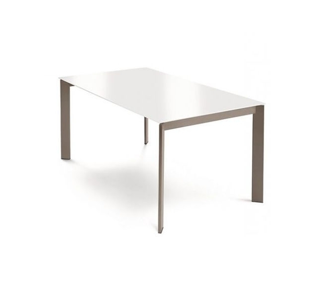 Most Popular Contemporary Dining Table / Wooden / Metal / Melamine – Glam 130 Inside White Melamine Dining Tables (View 7 of 20)