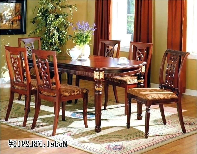 Most Popular Cozy Indian Dining Table N Teak Wood Hand Carved Dining Room With Indian Dining Room Furniture (View 15 of 20)