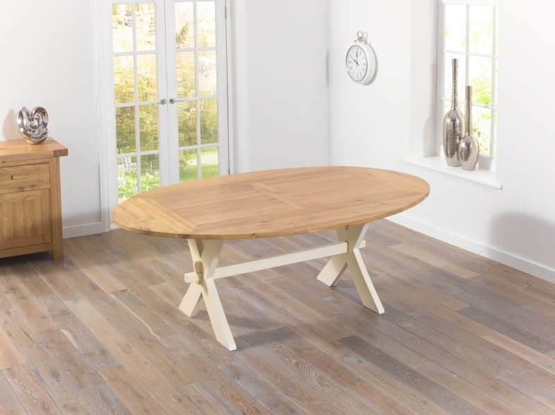 Most Popular Cream And Oak Dining Tables For Buy Mark Harris Avignon Oak And Cream Dining Table – 165Cm (View 12 of 20)