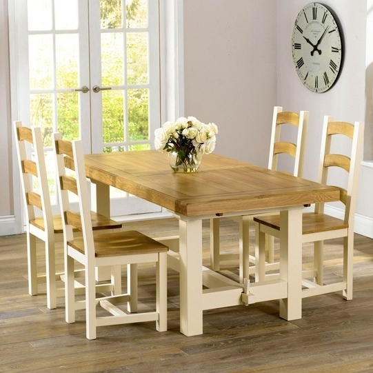Most Popular Cream And Wood Dining Tables Within Marino Cream & Oak – Cream & Oak Furniture – Furniture Shopping (View 11 of 20)