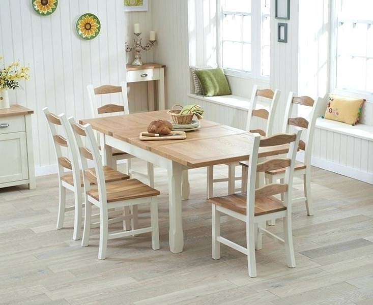 Most Popular Cream Dining Table Amazing Buy Mark Oak And Cream Extending Cream Pertaining To Cream And Wood Dining Tables (View 19 of 20)