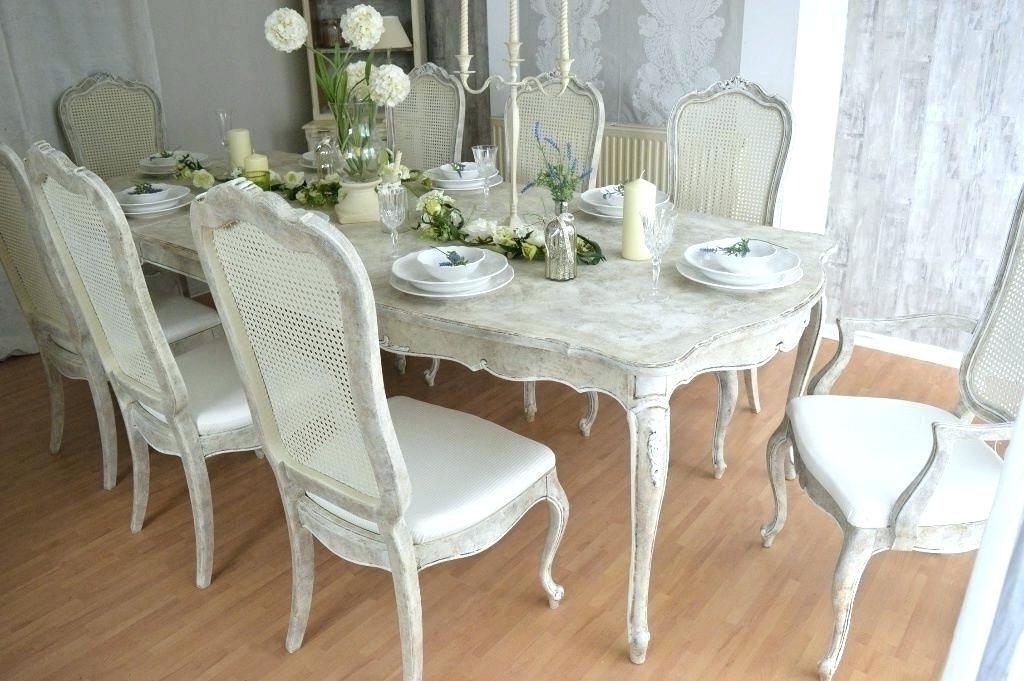 Most Popular Decoration: Shabby Chic Dining Chair Slipcovers Pertaining To Shabby Chic Dining Chairs (View 15 of 20)