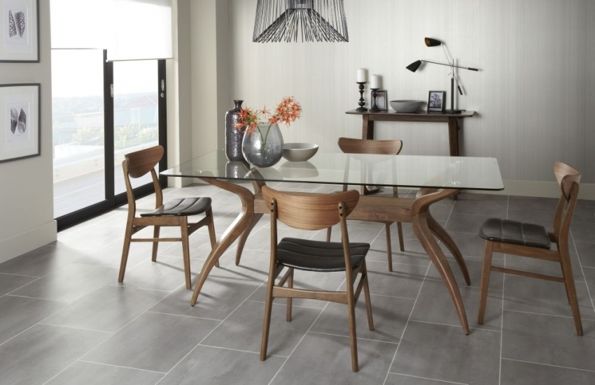 Most Popular Detroit Walnut 180cm Fixed Top Rectangular Dining Table With Regard To Walnut Dining Tables And Chairs (View 16 of 20)