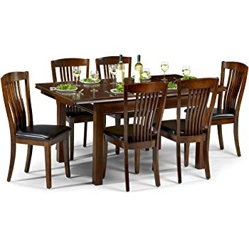 Most Popular Dining Table Sets With 6 Chairs For Julian Bowen Canterbury Extending Dining Table Set With 6 Chairs (View 15 of 20)