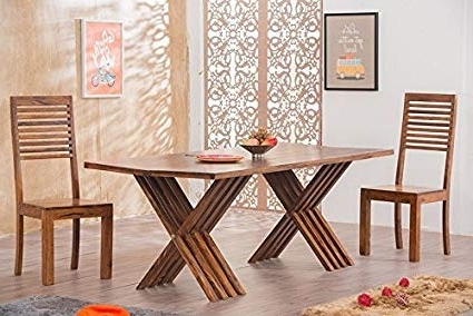 Most Popular Dining Table Sets With 6 Chairs Inside Mamta Decoration Solid Wood Leh Dining Table Set 6 Seater – ( Table (View 10 of 20)